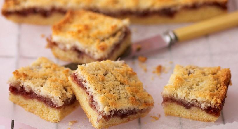 Coconut and Raspberry Jam Slices (12-Minute Recipe)