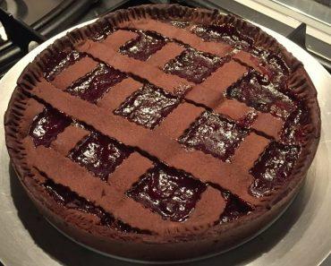 Sour Cherry Chocolate Pie