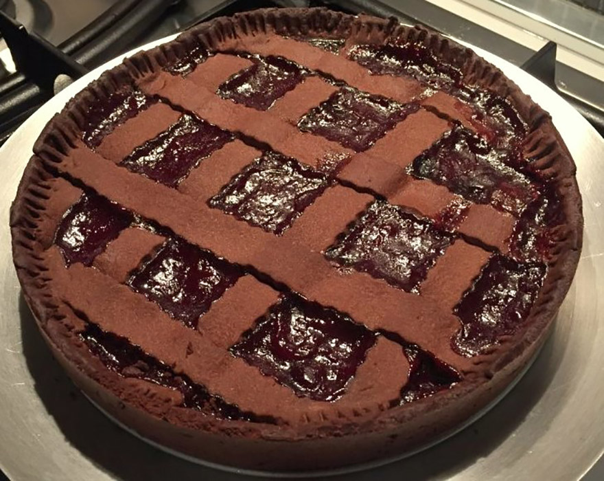 Sour Cherry Chocolate Pie