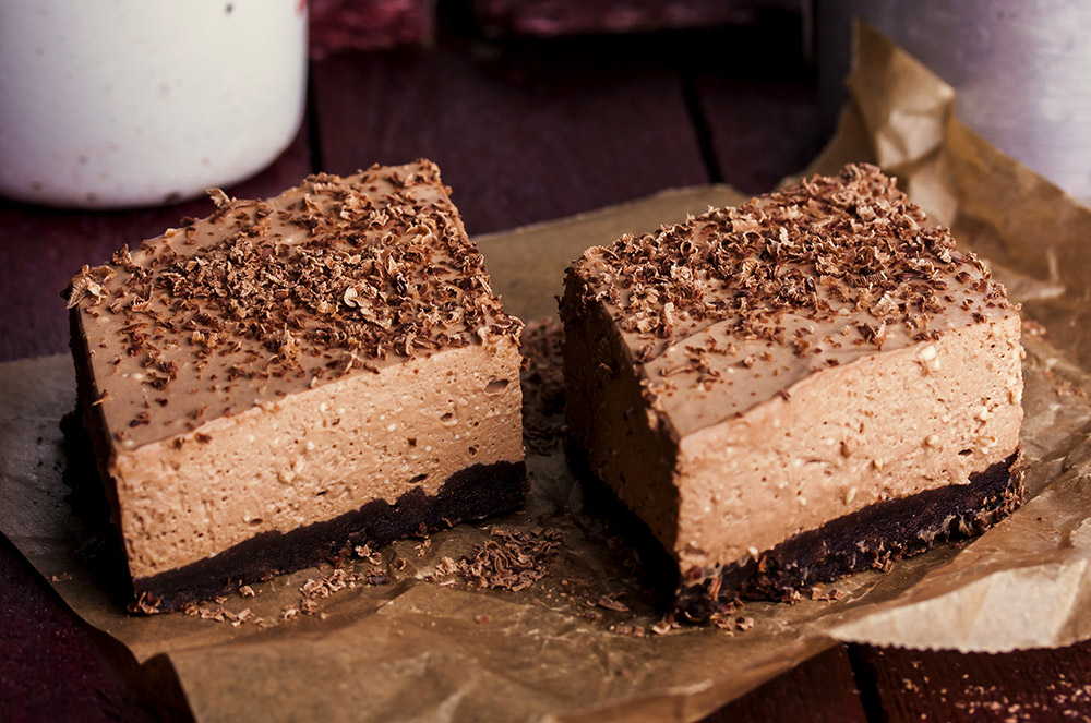 Creamy Chocolate Mousse Brownies Recipe