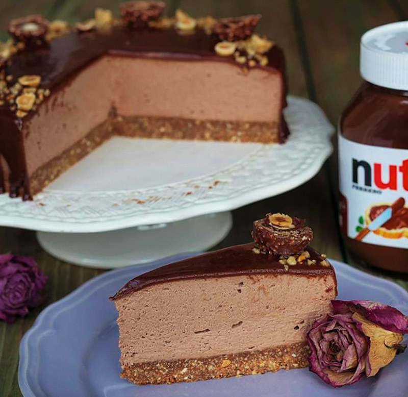 Nutella Mousse Pecan Pie