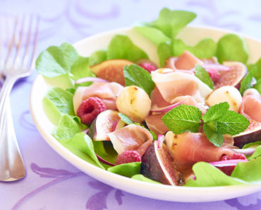 Ham and Salami Salad with Figs