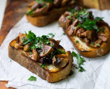 Wild Mushroom Crostini: Traditional Italian Recipe