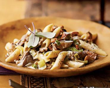 Penne with Wild Mushrooms & Truffles – Italian Recipe